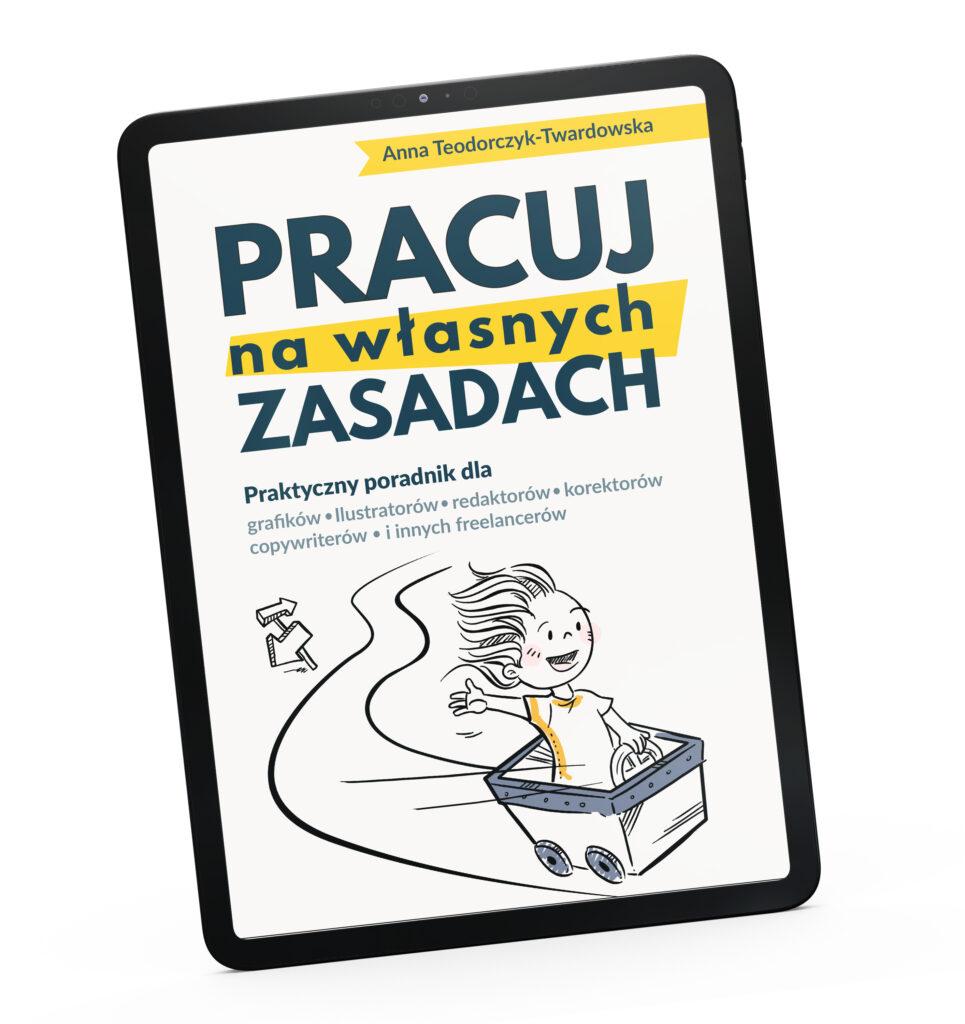 Zdjęcie tabletu z okładką książki