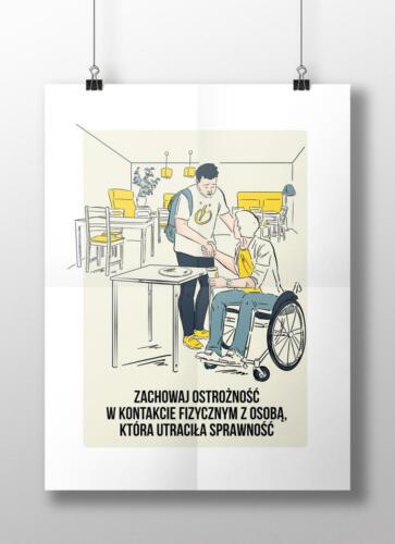 Cykl plakatów-instrukcji dla Politechniki Warszawskiej