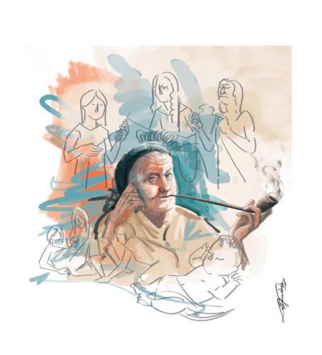 Sważena | Ilustracja do opowiadania Sważena (J.J.)