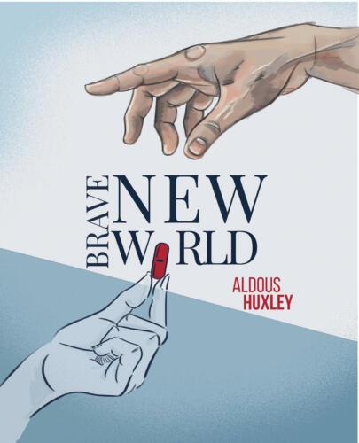 Nowy Wspaniały Świat, A. Huxley, fanart okładki