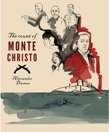 Hrabia Monte Christo, A. Dumas, fanart okładki